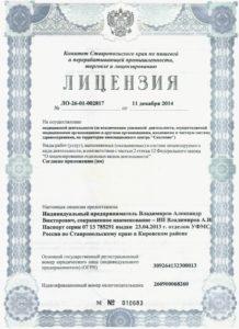 Лицензия ЛО-26-01-002817